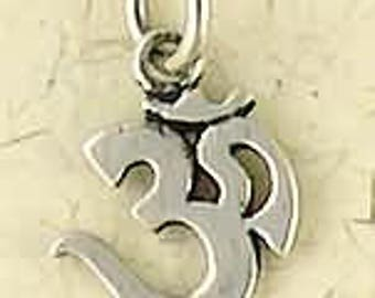 Sterling Silver Om Pendant Necklace