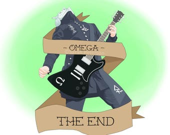 """Ghost BC Omega Ghoul """"The End"""" art print"""