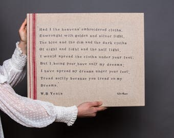 Typographic screen print on linen