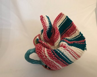 Red, White, And Blue cotton washcloth
