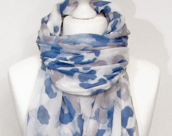 Scarf scarf Leopard Leo spring blue