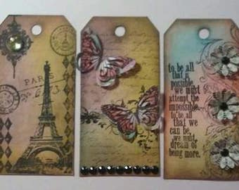 Random Vintage Scrapbook Tag Embellishments