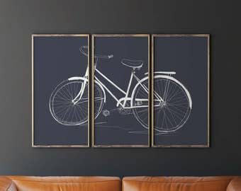 Bicycle Wall Art bicycle art | etsy
