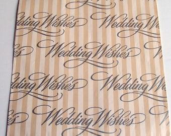 Vintage NOS Wedding Wishes Gift Wrap