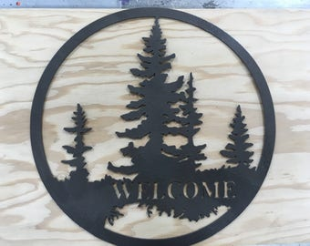 Tree Welcome Sign