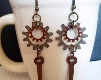 Steampunk Drop Earrings