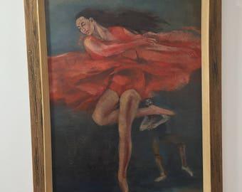 Vintage Signed J. Morley 1960's Oil Painting