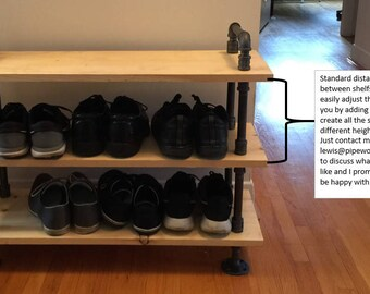 Industrial style shoe rack - New Lower price