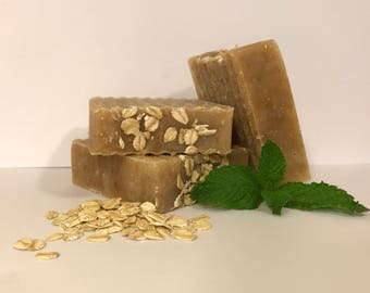 Honey Oat Goats Milk Handmade Natural Soap