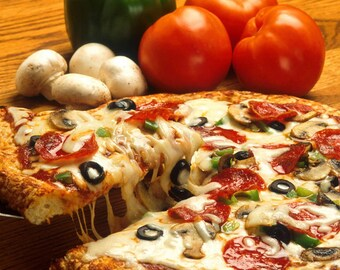 Instant Download - High Resolution Pizza Image