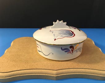 Hand Painted Capo di Monte Numbered Trinket Bowl with lid #310 of 725