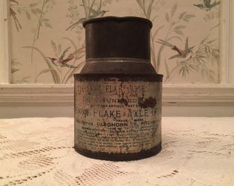 Vintage Snow Flake Axle Grease Can