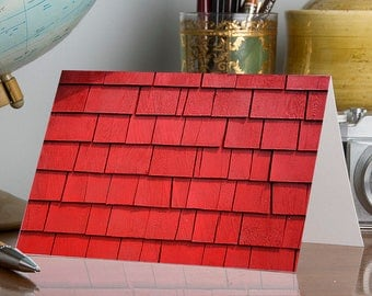 Red Shingles DIY 5 x 7 Greeting Card Template