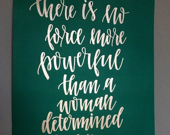 Hand-lettered Quote Print 16 x 20