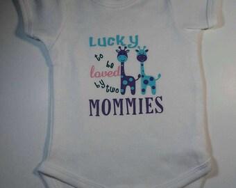 Two mommies onesie