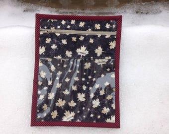 O Canada 150 Black and White Maple Leaf Travel Kit