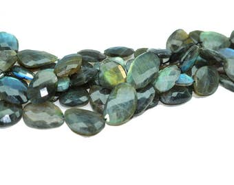Summer Sizzling Sale - AAA Qality Naturtal LABRADORITE NUGGET faceted\10 inch strand