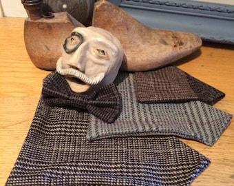 Tweed neckerchief 100% wool handmade dog doggy puppy scotland