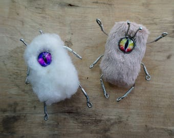 """2 brooches """"Insect"""", bijouterie, creations, fantasy, free delivery"""