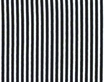 Black and White Stripes // 1/4 inch // Timeless Treasures Fabrics // Quilters Cotton // Black and White