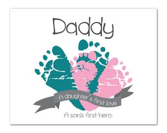 New Dad Gift, Husband Gift, Birthday Gift, Gift for Dad, Father's Day Gift, gift from baby, personalized gift for dad, baby footprints