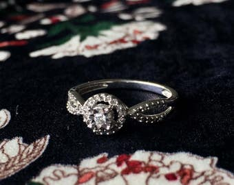 ON HOLD Diamond Ring | Vintage Diamond Ring | Antique Diamond Ring | Diamond Jacket Ring |