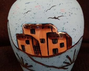 gold, southwest pottery, ceramics, hand made