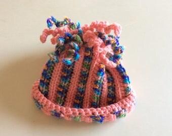 Girls 3-6 month crocheted hat