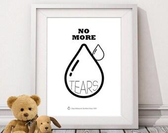 PRINTABLE » No More Tears - Ozzy Black Sabbath Lyrics Poster perfect for Baby's Room!
