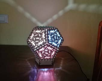 Dodecahedron lamp in kit