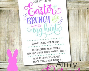 Easter Brunch and Egg Hunt Invitation