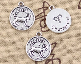 5 Piece Round Courageous Aries Charm