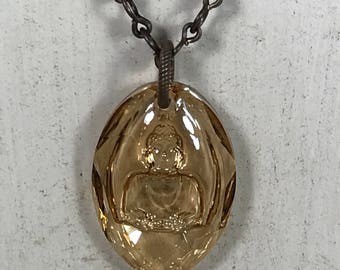 Swarovski Buddha Pendant Necklace