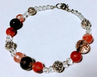 Handmade Quartz Beaded Bracelet