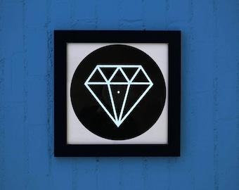 Minimal diamond music Illustration / / Graphic screen printing vinyl