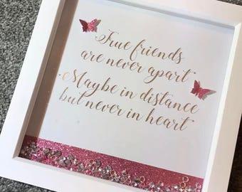 True Friends Quote Foil Frame