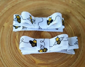 Busy Bee Hair Clips