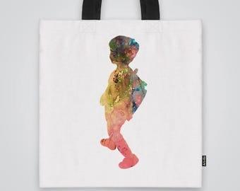 Going to School Tote Bag Shoulder Bag Market Bag Art Print