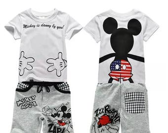 Micky mouse t shirt and shorts
