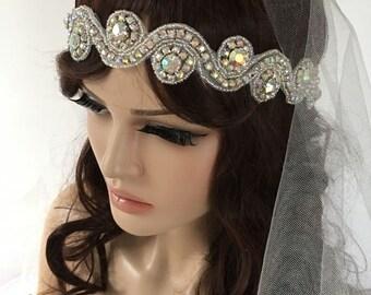 EXPRESS SHIPPING Rhinestones headband, bridal headband, headpiece, wedding hairband, Rhinestone Headpiece, Bridal Hair