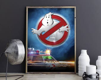 Ghostbusters Art Ghostbusters Decor Ghostbusters Print Ghostbusters Poster Ghostbusters Photo Ghostbusters Artwork Ghosts Wall Art