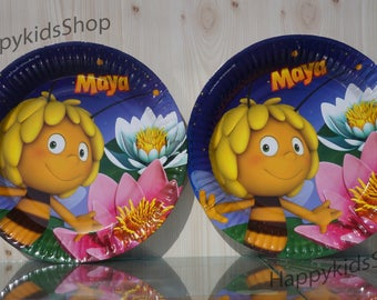 6psc plate children's holiday party Maya the bee TABLE PARTY TREATS supplies favors birthday tableware