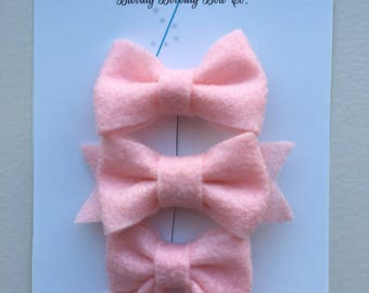 Pretty in Pink Bow Hair Clip Pack