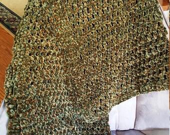 Handmade crochet afghan baby lap quilt blanket