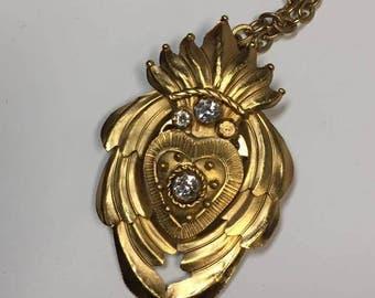 Golden Sacred Heart pendant