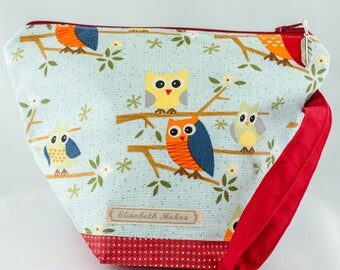 Owls Knitting Project Bag, small