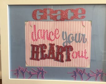Personalized picture frame, dance picture frame,