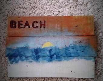 Beach, Nautical art, Pallet art