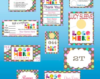 DotDotSmile Polka Dot Marketing Large kit, Printable, Digital
