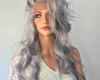Grey lace front wig 22'